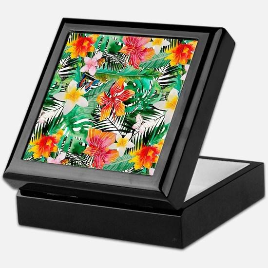 Cute Tropical island Keepsake Box