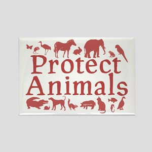 Protect Animals Rectangle Magnet