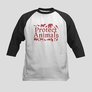 Protect Animals Kids Baseball Jersey