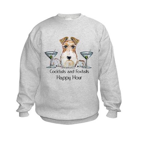 Wire Fox Terrier Happy Hour Kids Sweatshirt