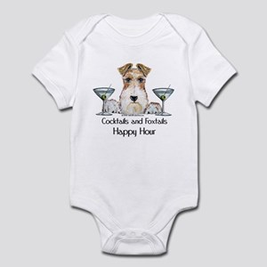 Wire Fox Terrier Happy Hour Infant Bodysuit