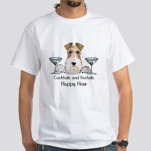 Wire Fox Terrier Happy Hour White T-Shirt
