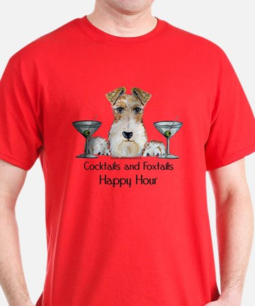 Wire Fox Terrier Happy Hour T-Shirt