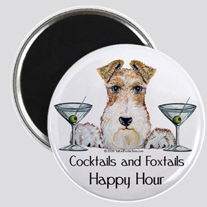 Wire Fox Terrier Happy Hour Magnet