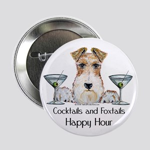 "Wire Fox Terrier Happy Hour 2.25"" Button"