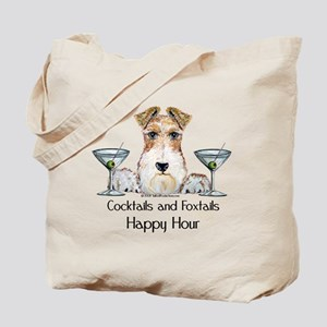 Wire Fox Terrier Happy Hour Tote Bag