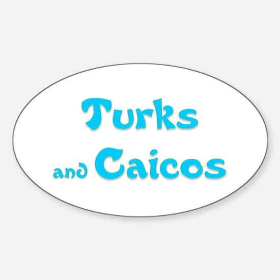 Turks and Caicos Oval Decal