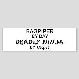 Bagpiper Deadly Ninja Bumper Sticker