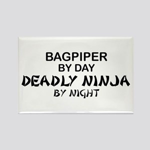 Bagpiper Deadly Ninja Rectangle Magnet