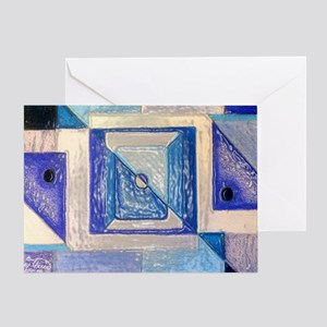 Blue squares Greeting Card