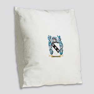 Mackinlay Coat of Arms - Famil Burlap Throw Pillow