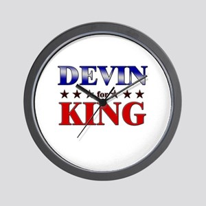 DEVIN for king Wall Clock