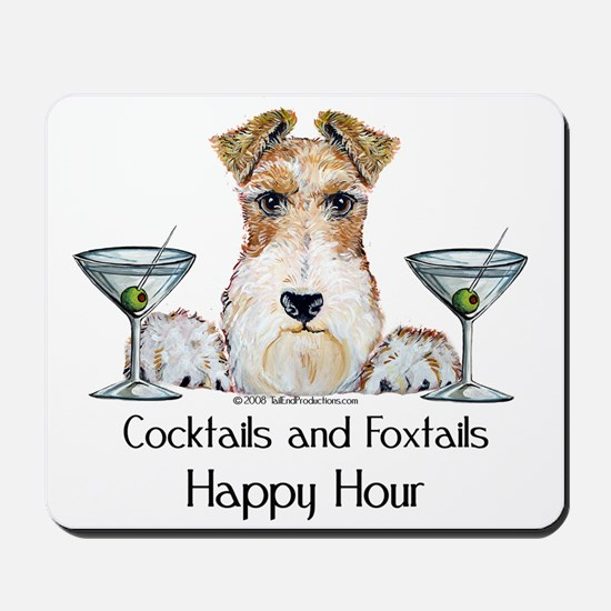 Wire Fox Terrier Happy Hour Mousepad
