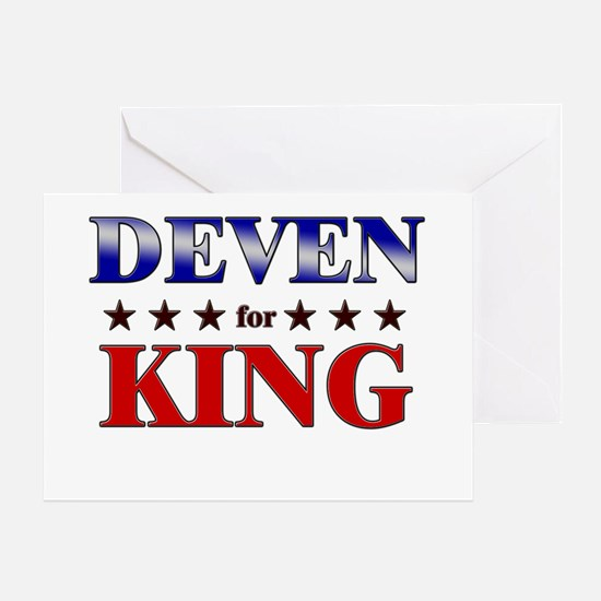 DEVEN for king Greeting Card