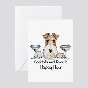 Wire Fox Terrier Happy Hour Greeting Card