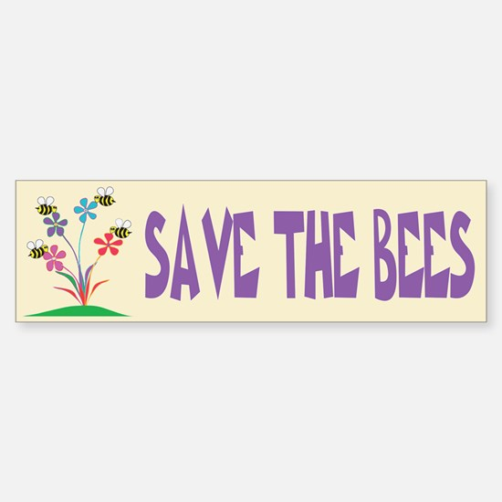 SAVE THE BEES Bumper Bumper Bumper Sticker