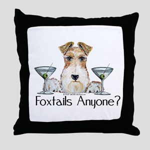 Wire Fox Terrier Pary Throw Pillow