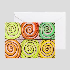 six swirls Greeting Card