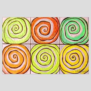 six swirls Large Poster