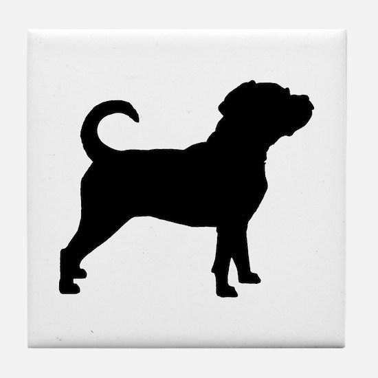 Puggle Dog Tile Coaster