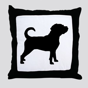 Puggle Dog Throw Pillow