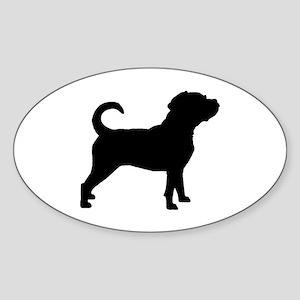Puggle Dog Sticker (Oval)