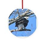 Eagle In the Wind Ornament (Round)