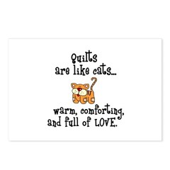 Quilts Are Like Cats Postcards (Package of 8)