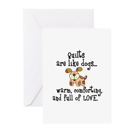 Dogs Are Like Quilts Greeting Cards (Pk of 20)
