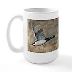 Mallard Flying Large Mug
