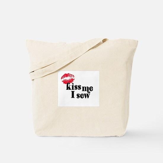 Kiss Me I Sew Tote Bag