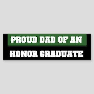 Green Proud Honor Grad Dad Bumper Sticker