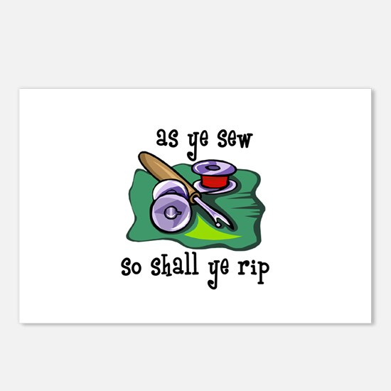 Sewing - So Shall Ye Rip Postcards (Package of 8)