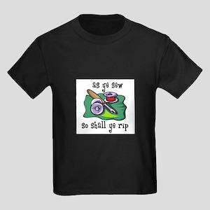 Sewing - So Shall Ye Rip Kids Dark T-Shirt