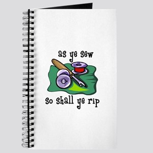 Sewing - So Shall Ye Rip Journal