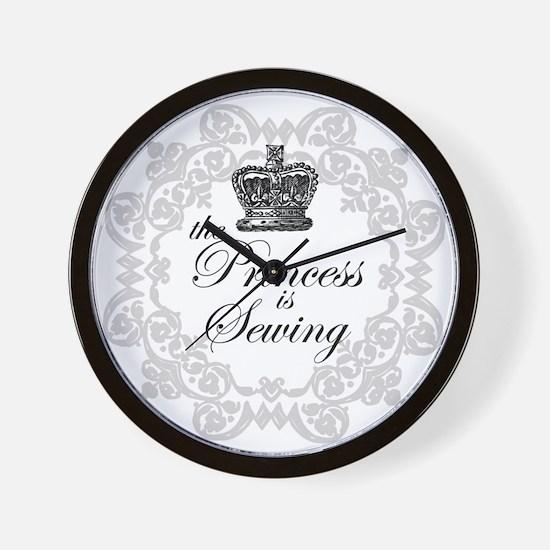 The Princess is Sewing Wall Clock