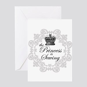 The Princess is Sewing Greeting Card