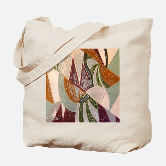 Earthtone Abstract Tote Bag