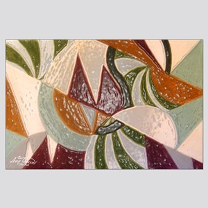 Earthtone Abstract Large Poster