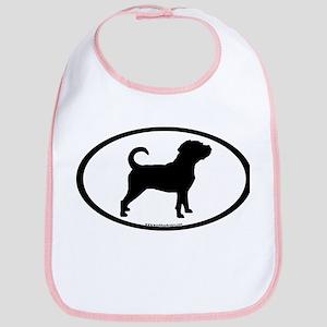 Puggle Dog Oval Bib
