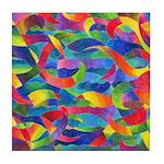 Cosmic Ribbons Tile Coaster