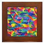 Cosmic Ribbons Framed Tile