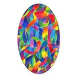 Cosmic Ribbons Oval Sticker