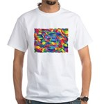 Cosmic Ribbons White T-Shirt