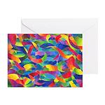 Cosmic Ribbons Greeting Card