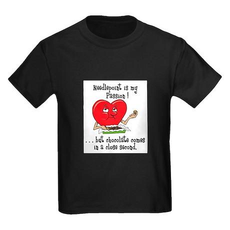Needlepoint and Chocolate Kids Dark T-Shirt