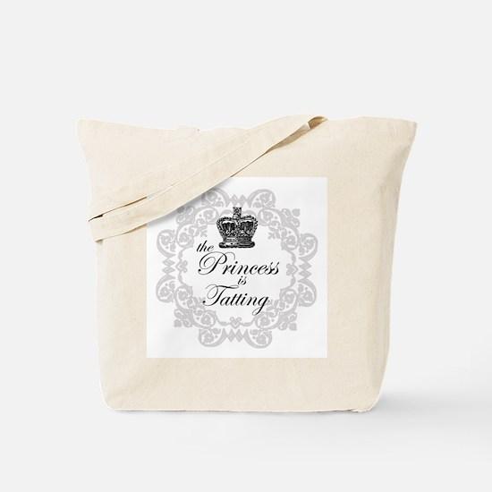 The Princess in Tatting Tote Bag