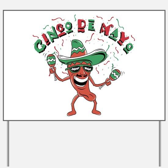 Cinco de Mayo Chili Pepper Yard Sign