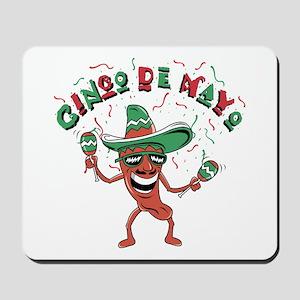 Cinco de Mayo Chili Pepper Mousepad