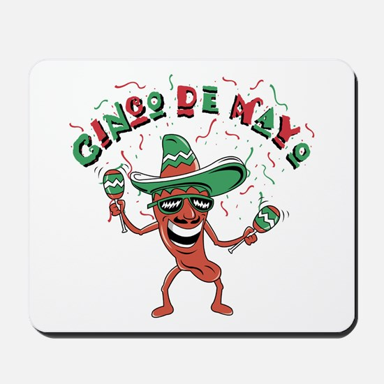 Cinco de Mayo Chili Pepper Mousepad